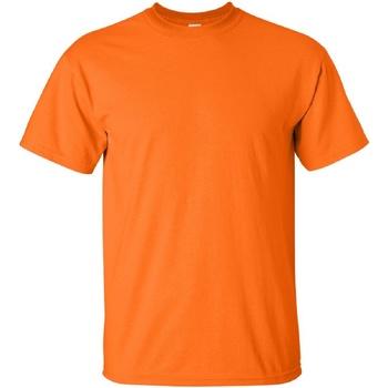 vaatteet Miehet Lyhythihainen t-paita Gildan Ultra Safety Orange