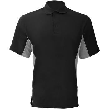 vaatteet Miehet Lyhythihainen poolopaita Gamegear KK475 Black/Grey/White