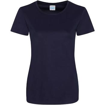 vaatteet Naiset Lyhythihainen t-paita Awdis JC025 French Navy