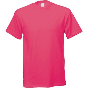 vaatteet Miehet Lyhythihainen t-paita Universal Textiles 61082 Hot Pink