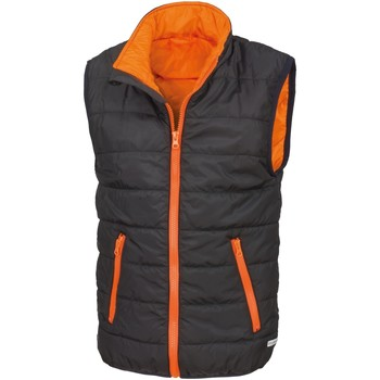 vaatteet Lapset Neuleet / Villatakit Result R234JY Black/Orange