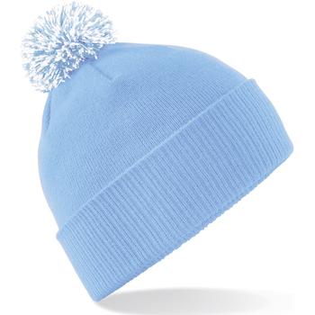 Asusteet / tarvikkeet Tytöt Pipot Beechfield Snowstar Sky Blue/White