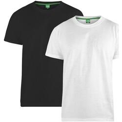 vaatteet Miehet Lyhythihainen t-paita Duke  Black/White