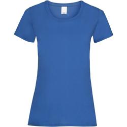 vaatteet Naiset Lyhythihainen t-paita Universal Textiles 61372 Cobalt
