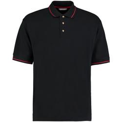 vaatteet Miehet Lyhythihainen poolopaita Kustom Kit KK606 Black/Bright Red
