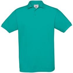 vaatteet Miehet Lyhythihainen poolopaita B And C PU409 Real Turquoise