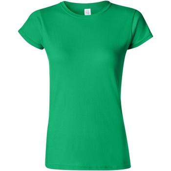 vaatteet Naiset Lyhythihainen t-paita Gildan Soft Irish Green