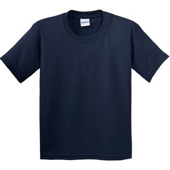 vaatteet Lapset Lyhythihainen t-paita Gildan 64000B Navy