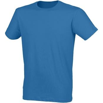 vaatteet Miehet Lyhythihainen t-paita Skinni Fit SF121 Surf Blue