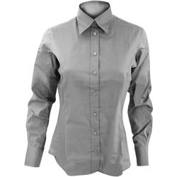 vaatteet Naiset Paitapusero / Kauluspaita Kustom Kit KK702 Silver Grey