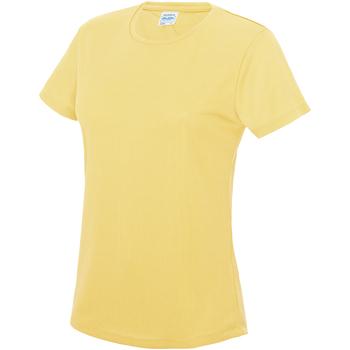 vaatteet Naiset Lyhythihainen t-paita Awdis JC005 Sherbet Lemon