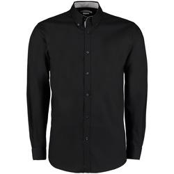 vaatteet Miehet Pitkähihainen paitapusero Kustom Kit KK190 Black/Silver