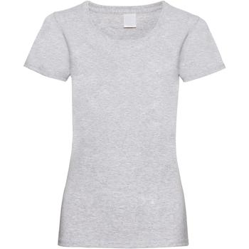 vaatteet Naiset Lyhythihainen t-paita Universal Textiles 61372 Grey Marl