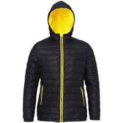 vaatteet Naiset Toppatakki 2786 TS16F Black/Bright Yellow