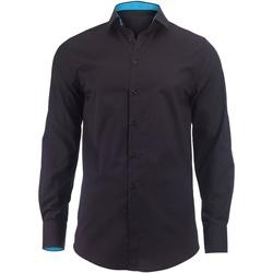 vaatteet Miehet Pitkähihainen paitapusero Alexandra Hospitality Black/ Peacock