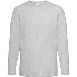 vaatteet Miehet T-paidat pitkillä hihoilla Universal Textiles 61038 Grey Marl