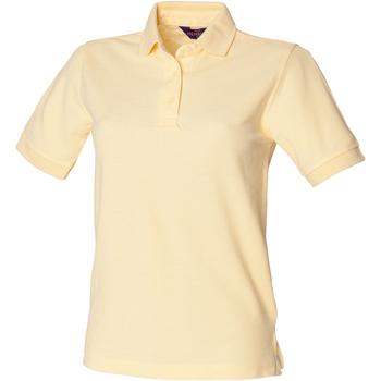 vaatteet Naiset Lyhythihainen poolopaita Henbury HB401 Lemon