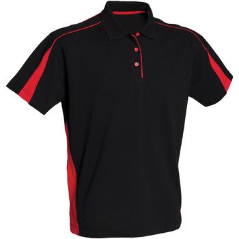 vaatteet Naiset Lyhythihainen poolopaita Finden & Hales LV391 Black/Red