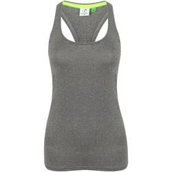 vaatteet Naiset Hihattomat paidat / Hihattomat t-paidat Tombo TL506 Grey Marl