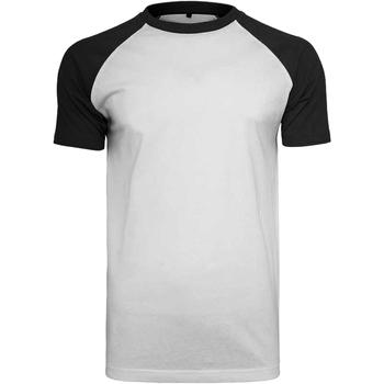 vaatteet Miehet Lyhythihainen t-paita Build Your Brand BY007 White/Black