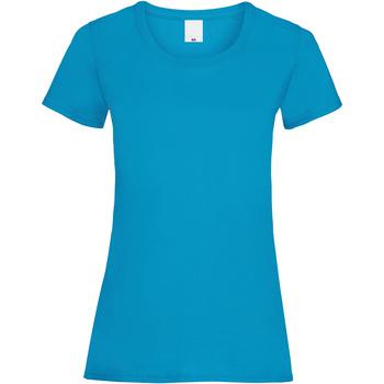 vaatteet Naiset Lyhythihainen t-paita Universal Textiles 61372 Cyan