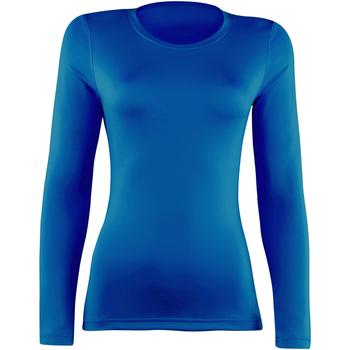 vaatteet Naiset T-paidat pitkillä hihoilla Rhino RH003 Royal