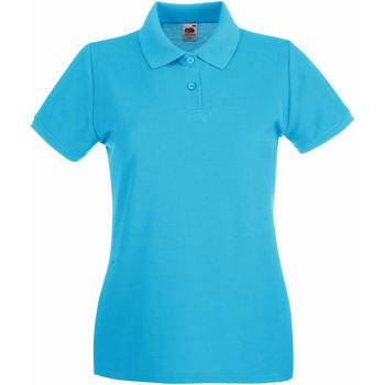 vaatteet Naiset Lyhythihainen poolopaita Fruit Of The Loom 63030 Azure Blue