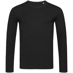 vaatteet Miehet T-paidat pitkillä hihoilla Stedman Stars  Black Opal