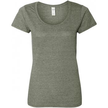 vaatteet Naiset Lyhythihainen t-paita Gildan 64550L Graphite Heather