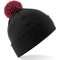 Asusteet / tarvikkeet Tytöt Pipot Beechfield Snowstar Black/Classic Red