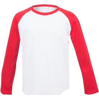 vaatteet Lapset T-paidat pitkillä hihoilla Skinni Fit SM271 White / Red