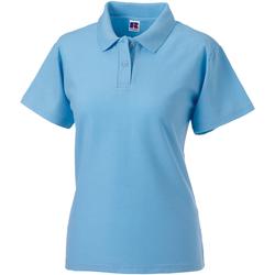 vaatteet Naiset Lyhythihainen poolopaita Jerzees Colours 539F Sky Blue