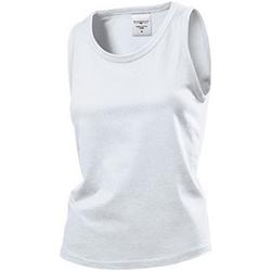 vaatteet Naiset Hihattomat paidat / Hihattomat t-paidat Stedman  White