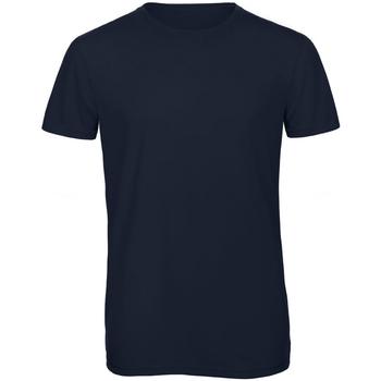 vaatteet Miehet Lyhythihainen t-paita B And C TM055 Navy Blue