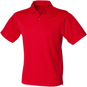 vaatteet Miehet Lyhythihainen poolopaita Henbury HB475 Classic Red