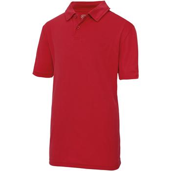 vaatteet Lapset Lyhythihainen poolopaita Awdis JC40J Fire Red