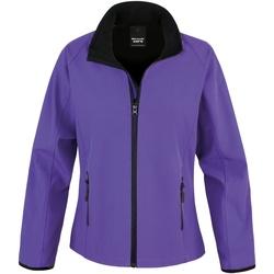 vaatteet Naiset Fleecet Result R231F Purple / Black