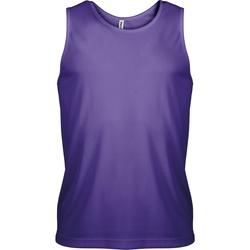 vaatteet Miehet Hihattomat paidat / Hihattomat t-paidat Kariban Proact PA441 Violet