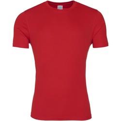 vaatteet Miehet Lyhythihainen t-paita Awdis JC020 Fire Red