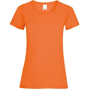 vaatteet Naiset Lyhythihainen t-paita Universal Textiles 61372 Bright Orange