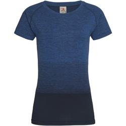 vaatteet Naiset Lyhythihainen t-paita Stedman  Blue Transition