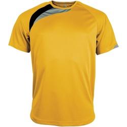 vaatteet Miehet Lyhythihainen t-paita Kariban Proact PA436 Yellow/ Black/ Storm Grey