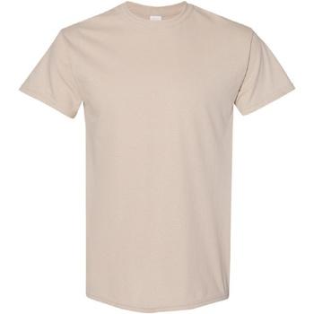 vaatteet Miehet Lyhythihainen t-paita Gildan Heavy Sand