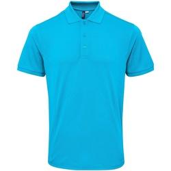 vaatteet Miehet Lyhythihainen poolopaita Premier PR630 Turquoise