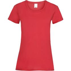 vaatteet Naiset Lyhythihainen t-paita Universal Textiles 61372 Bright Red