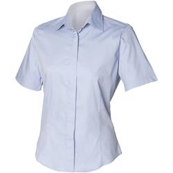vaatteet Miehet Lyhythihainen paitapusero Henbury HB556 Light Blue