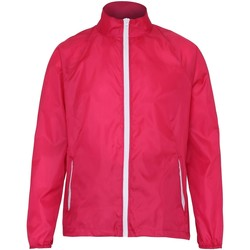 vaatteet Miehet Tuulitakit 2786  Hot Pink/ White