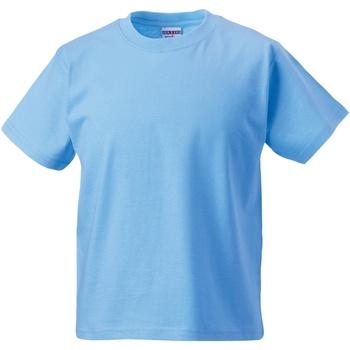 vaatteet Lapset Lyhythihainen t-paita Jerzees Schoolgear ZT180B Sky Blue