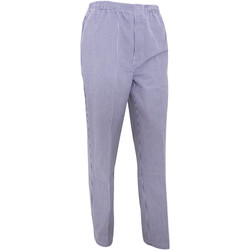 vaatteet Väljät housut / Haaremihousut Premier  Navy/White Check