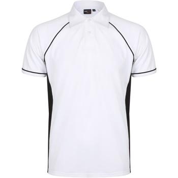 vaatteet Miehet Lyhythihainen poolopaita Finden & Hales Piped White/Black/Black